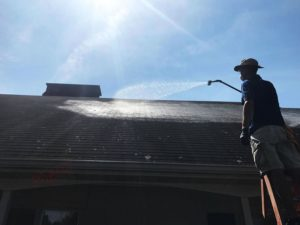 Softwash roof cleaning in Nashville, TN by P3 Pressure Washing