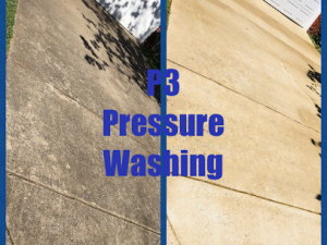 Concrete cleaning in Nashville, TN by P3 Pressure Washing