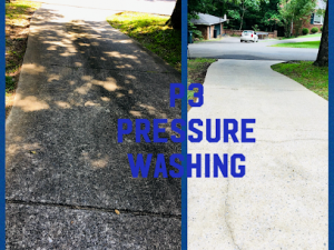 Concrete cleaning by P3 Pressure Washing in Nashville, TN