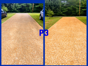Sidewalk and Driveway cleaning by P3 Pressure Washing in Nashville, TN