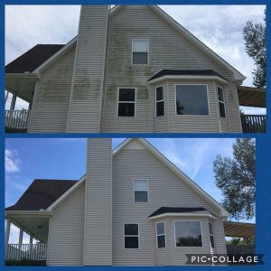 Before and After pressure washing by P3 in Nashville, TN